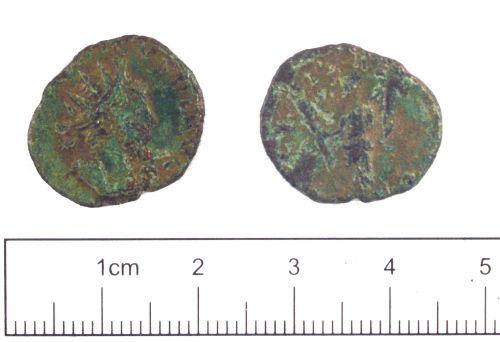 YORYM-1ACA32: Roman coin : Radiate of Tetricus I