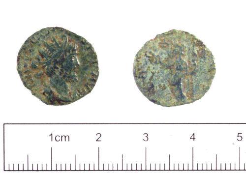 YORYM-1AE356: Roman coin : Radiate of Tetricus I