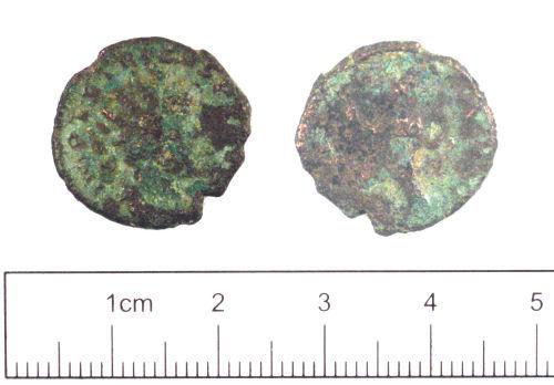 YORYM-C327F6: Roman coin : Radiate of Tetricus I