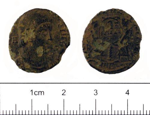 YORYM-A36AC5: Roman coin : Nummus of Magnentius