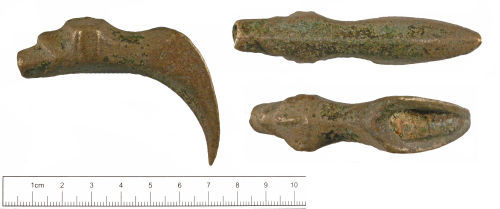 YORYM-5A7384: Medieval to post-medieval : Vessel spout