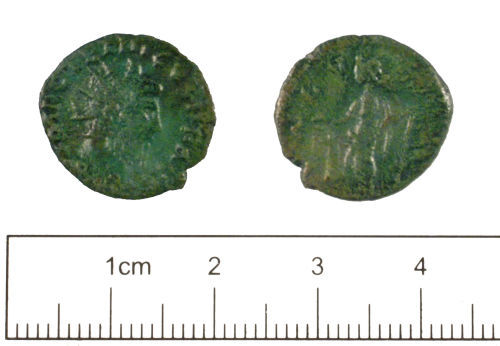 YORYM-1981E7: Roman coin : Radiate of Tetricus