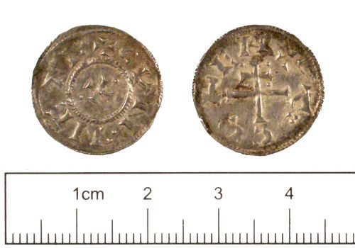 YORYM-1B6E14: Early-medieval coin : Penny of Viking ruler