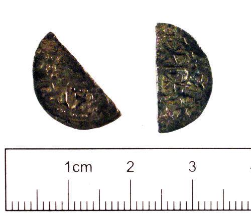 YORYM-D10B32: Medieval coin : Cut halfpenny