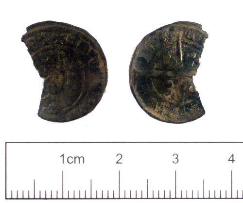 YORYM-A47837: Medieval coin : Edwardian penny