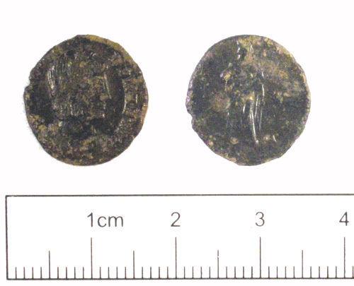 YORYM-981594: Roman coin : Nummus of Theodora