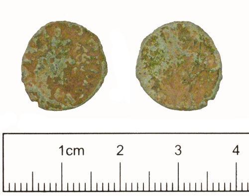 YORYM-2851D7: Roman coin : Radiate of Tetricus I