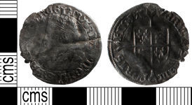 A resized image of Post Medieval coin: groat of Mary I