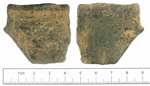 SUSS-FD12C6: Medieval or post medieval rim fragment from vessel
