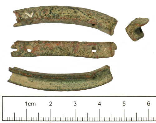 SUSS-017927: Late Medieval or Post Medieval purse bar fragment