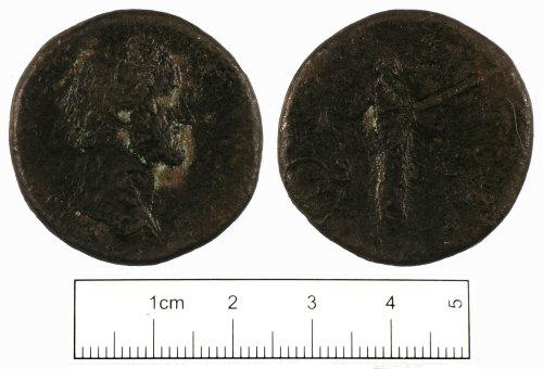 SUSS-29F1B6: Roman coin: Sestertius of Antoninus Pius