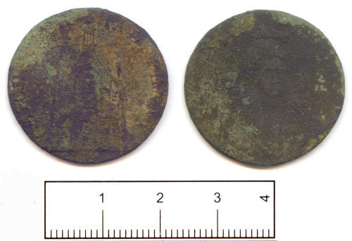 SUSS-416C22: Post Medieval: Halfpenny token from Chichester