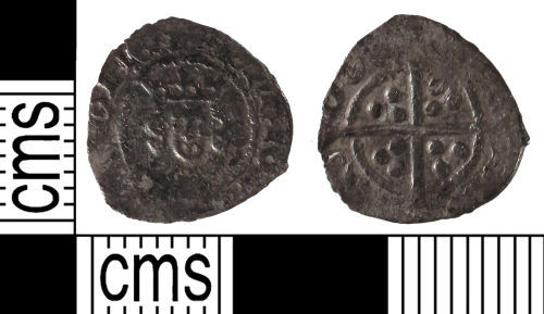 SUSS-875DD5: Medieval coin: halfpenny of Henry IV