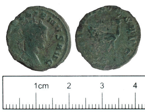 SUSS-9656C2: Roman coin: radiate of Gallienus