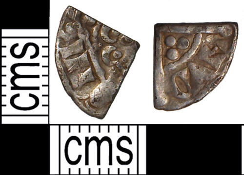 SUSS-987C03: Medieval coin: silver cut farthing of Henry III