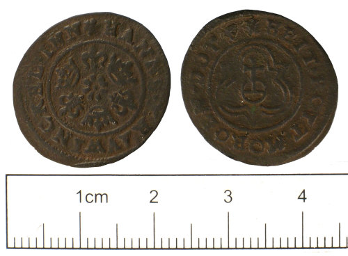 SUSS-9F1CE4: Post Medieval jetton of Hans Krauwinckel II of Nuremburg