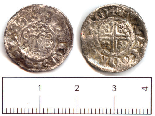SUSS-9FFE06: Medieval coin: Penny of King John