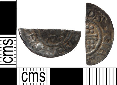SUSS-A6F9A1: Medieval coin: cut halfpenny of Henry II