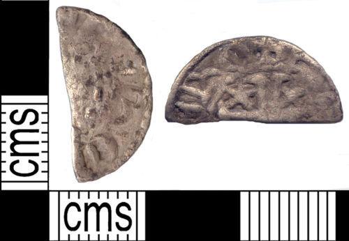 SUSS-B7B2F1: Scottish Medieval coin: cut halfpenny of William I of Scotland
