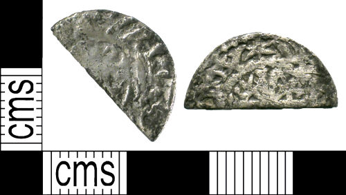 SUSS-D30075: Scottish Medieval coin: cut halfpenny of William I