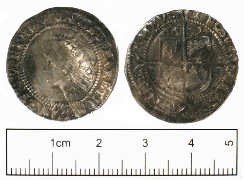 SUSS-DF8C48: Post Medieval coin: Sixpence of Elizabeth I