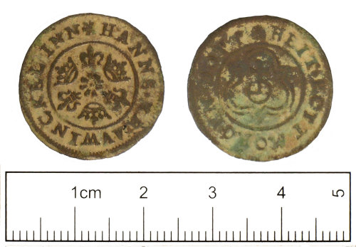 SUSS-DFA6F7: Post medieval Jetton of Hanns Krauwinckel