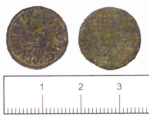 SUSS-E22D75: Post medieval coin: Farthing of James I