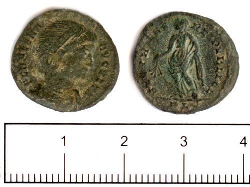 SUSS-0F2013: Roman coin: nummus of Helena