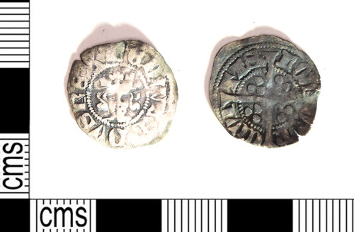 LEIC-03EADB: Edwardian silver long cross halfpenny