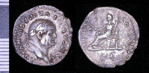 PUBLIC-23A7A3: Roman silver denarius of Vespasian