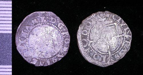 LEIC-D85ED6: medieval silver half-groat of Elizabeth I