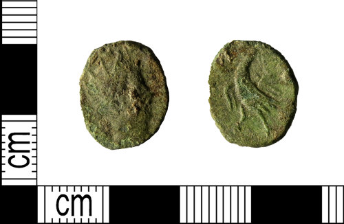 LEIC-734C7A: Roman copper alloy radiate of Claudius II