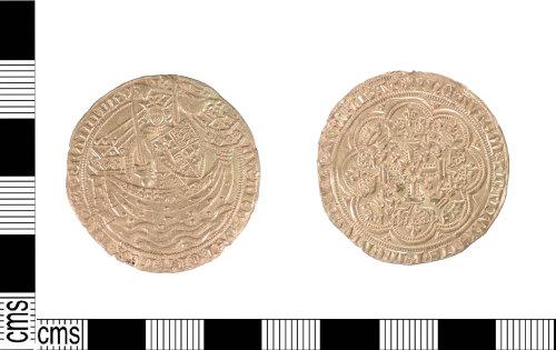 LIN-F1C70B: LIN-F1C70B: Medieval gold noble of Edward III