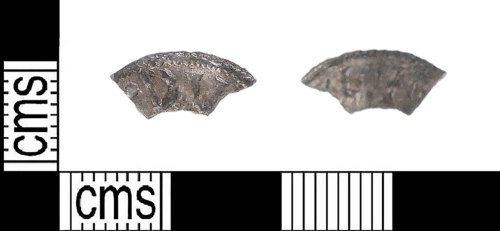 LIN-784F26: LIN-784F26: Early medieval fragment of a silver penny of Aethelweard