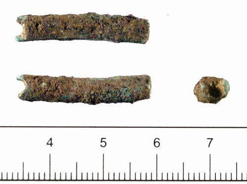DUR-D0D451: Copper-alloy rod fragment of uncertain date