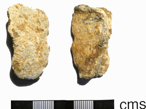 LANCUM-E6E0C5: Possibly Roman-Post-Medieval Lead Object (front and back)