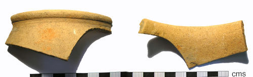 LANCUM-9B3BC6: Roman Coarseware Vessel Rim Sherd