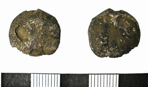 LANCUM-E5DD55: Roman Denarius of Domitian (obverse and reverse)