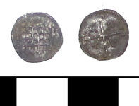 A resized image of ESS-C87AA1 Post Medieval coin: halfpence of Elizabeth I