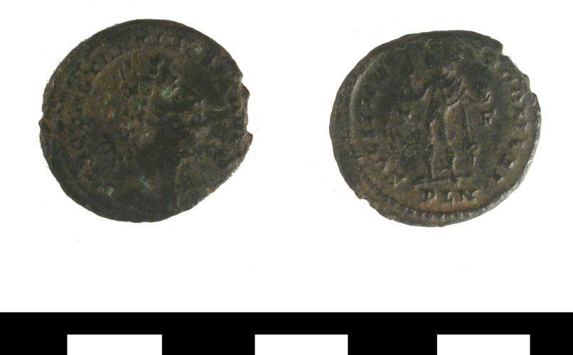ESS-A7F391: ESS-A7F391 Roman coin: nummus of Constantine