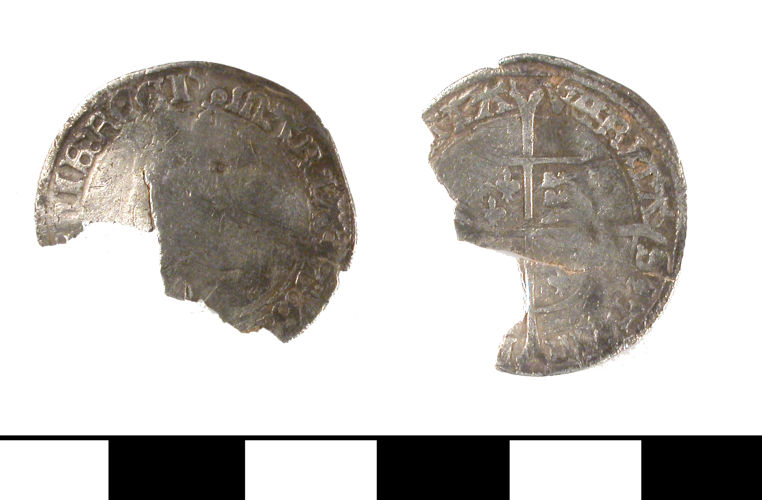 ESS-B73025: ESS-B73025 Post Medieval coin: groat of Mary