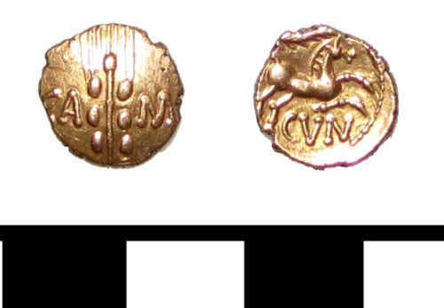 ESS-4789C3: ESS-4789C3 Iron Age coin: quarter stater of Cunobelin