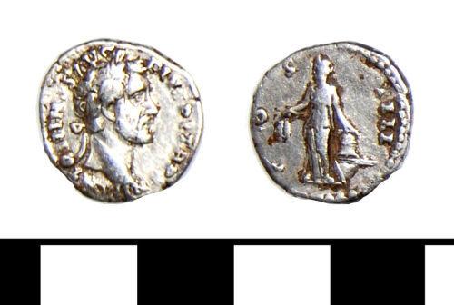 ESS-506375: Roman coin: Denarius of Antoninus Pius