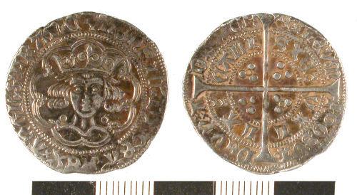 ESS-52EC62: ESS-52EC62 Medieval coin: groat of Henry VI