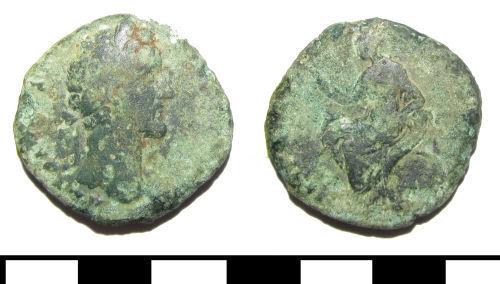 ESS-6403C7: ESS-6403C7 Roman coin: sestertius of Marcus Aurelius