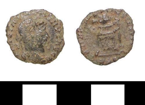 ESS-68BDA7: ESS-68BDA7 Roman coin: nummus of Constantine