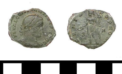 ESS-68C394: ESS-68C394 Roman coin: nummus of Constantine