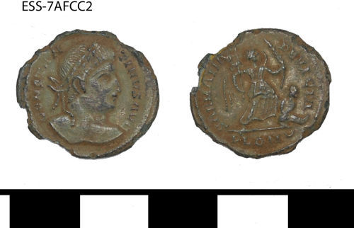 A resized image of ESS-7AFCC2 Roman coin: nummus of Constantine