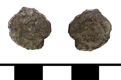 ESS-85E7D5: ESS-85E7D5 Roman coin: nummus of Valens