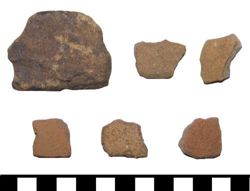 ESS-CEAF96: ESS-CEAF96 Six pottery sherds of Roman to Medieval date